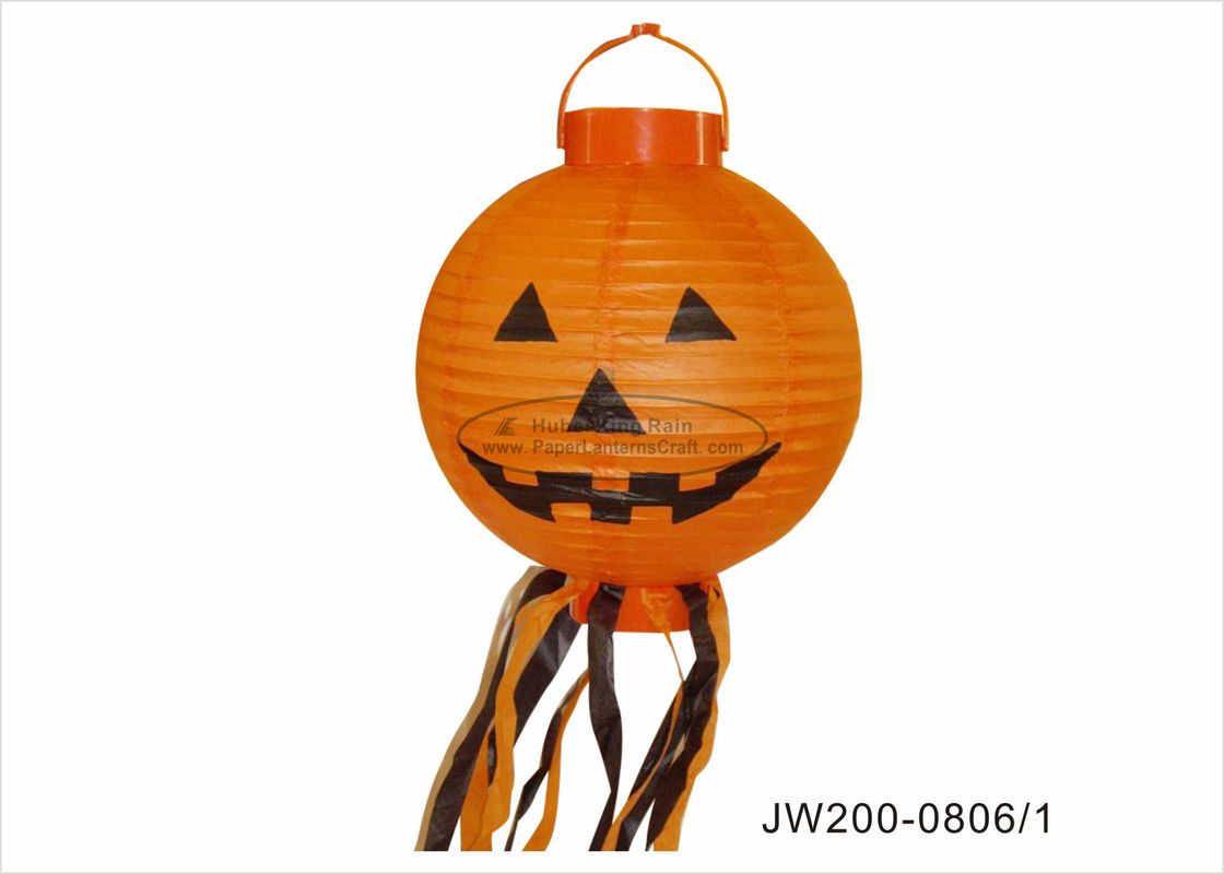 Led Battery Halloween Hanging Paper Lanterns Light 20cm For Home Decoration
