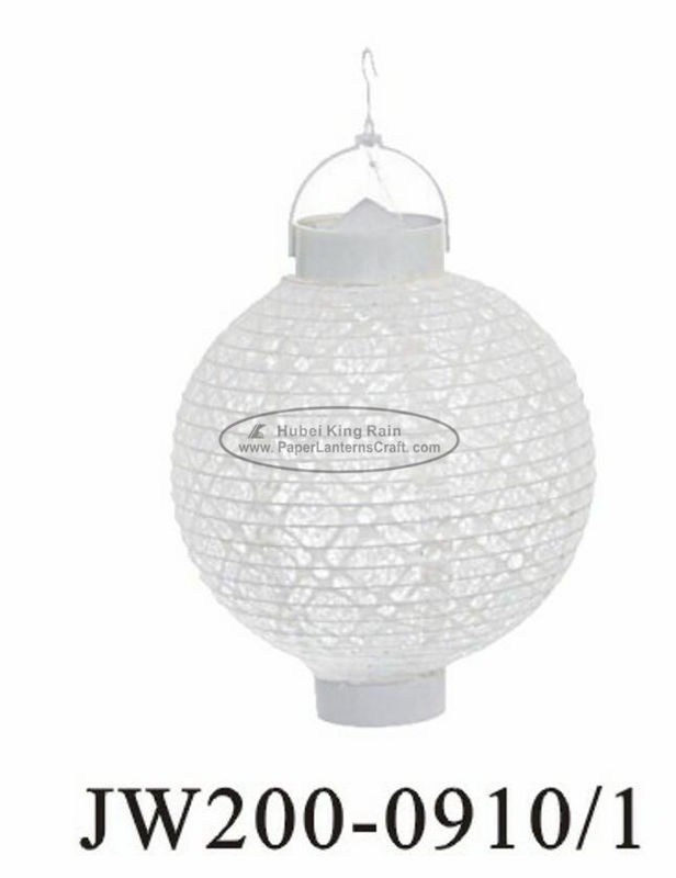 Decorative Hanging Round Paper Lanterns With Lights 20cm White Eyelet Hole