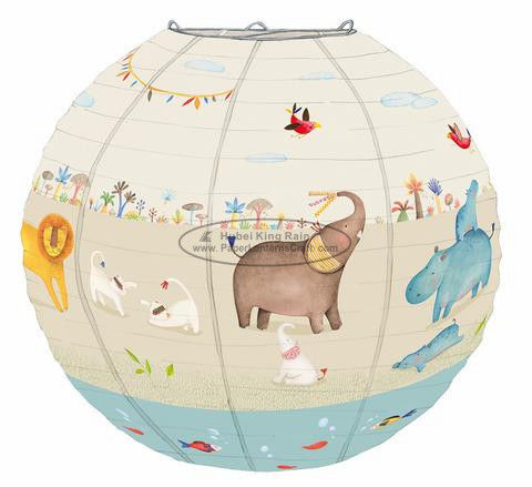 Baby shower Kids Paper Lanterns bed room hanging decoration birthday ceremony
