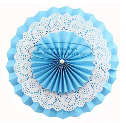 Multilayer Paper Fan Backdrop Round Folding Fans Hanging